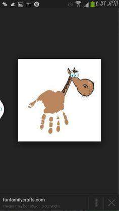 Horse handprint