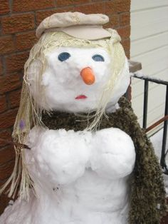 Perfect for the storm: Snowlady with boobies! -Linda the Bra Lady