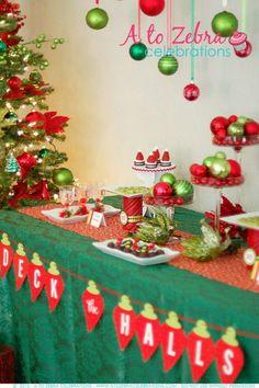 Easy Christmas Party Ideas and cute appetizers by A To Zebra Celebrations via LivingLocurto.com #Christmas