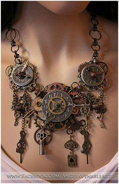 old keys, jewelry necklaces, wedding styles, jewelry design, clock