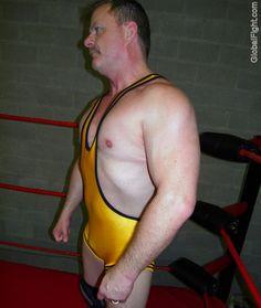 hot manly wrestling bear daddy singlet pro ring daddie