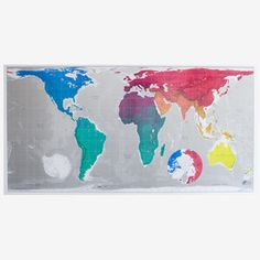 Magnetic Map 77x39 Blue now featured on Fab.