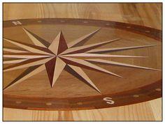 Hardwood Floor compass pattern