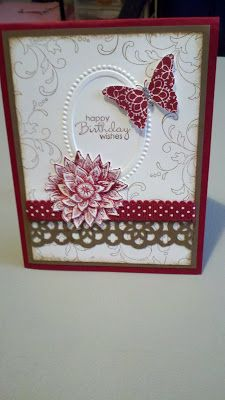 Stampin It Up with Olivia: Creative Elements Birthday Card