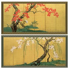 Edo Tree and Flower Panel Set - The Met Store