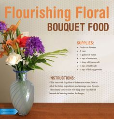 Beautiful backyard bouquets deserve homemade flower food. #SaveMoney #DIYHome #HouseholdTips #DIYFlowerFood #GardenerHack