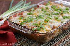 Cream Cheese Chicken Enchiladas | Taste and Tell