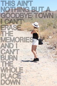 goodbye town - lady a