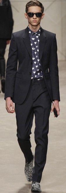 Burberry Prorsum Fall 2013 Menswear  -  GUEST ATTIRE suit perfect, burberry, 2013 menswear, men fashion, burberri prorsum, shoe, prorsum fall