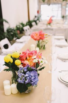 spring flowers, photo by Lara Hotz http://ruffledblog.com/sun-studios-australia-wedding #weddingideas #tablescapes