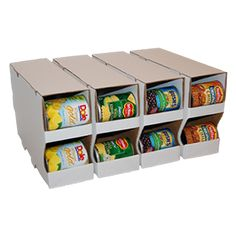 I wonder if I am really careful opening up some soda boxes if I could do the same thing! LOL Great way to organize those cans!!