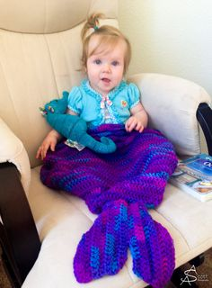 Mermaid Blanket Crochet Pattern by RAKJpatterns on Etsy