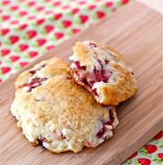 strawberry rhubarb scones--since my rhubarb and strawberry plants are doing well this year.