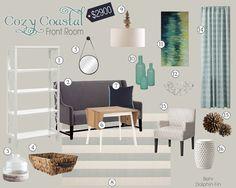 Cozy Coastal Low-End Portfolio   Teal & Lime #moodboard #interiordesign #interiordecorating #homedecor #tealandlime