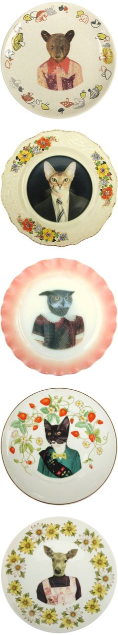 """Use cut outs of animal heads from animal magazines/books, glue onto paper plate and have children finish bust with shoulders etc. Decorate edge of plate to be """"fancy"""". :)"""
