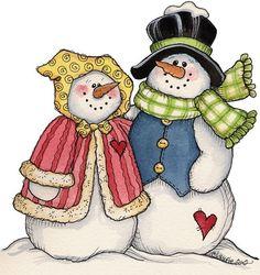 snow couple christmas cards, snow peopl, snowmen, clipart, clip art, snow coupl, snowpeopl, christmas snowman, frosti
