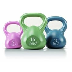 Kettlebells are great. These are perfect for beginners. http://amzn.to/Lba9jf