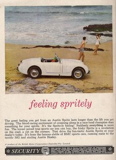 Austin-Healey Sprite Advertisment by glen.h, via Flickr