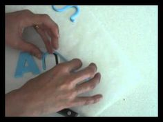 Four different ways to make fondant letters. (Some things I never would have thought of!)