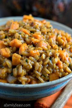 vegetarian risotto, sweet potato risotto, food, gluten dairy free dinner, vegetarian rice dishes