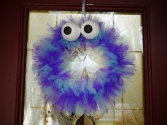 cute monster wreath for the door . . . .
