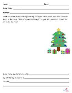Holiday Character Gift Writing