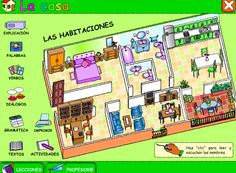 Lecciones interactivas para aprender mucho sobre la casa. De la Junta de Andalucía.  www.facebook.com/Spanish.for.kids.in.Spain