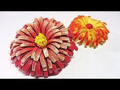 Flores de goma eva.