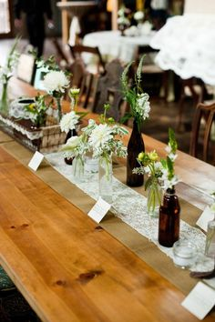 a natural, organic tablescape. love all that greenery  Photography by http://shannoncunninghamphoto.com, Event Design and Planning by http://36thstreetevents.com, Floral Design by http://petalpushers.us