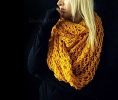 Huge Mustard Loop Scarf. $75.00, via Etsy.