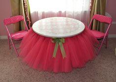 DIY Tutu table.