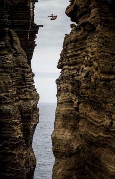 Artem Silchenko at the Red Bull Cliff Diving World Series in Islet Vila Franca do Campo, Azores, Portugal