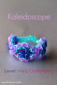 How to Make a Kaleidoscope Bracelet #kids #crafts #stretchband #loopband #loombracelet