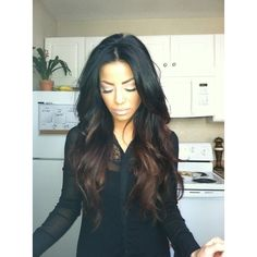 Gorgeous black/brown ombre