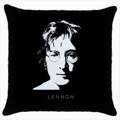 JOHN LENNON BEATLES Black Cushion Cover Throw Pillow Case Gift  http://stores.shop.ebay.co.uk/giftbazaar