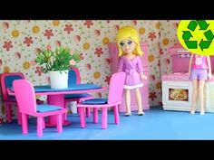 How to make a mini doll dinning room set with cardboard and paper