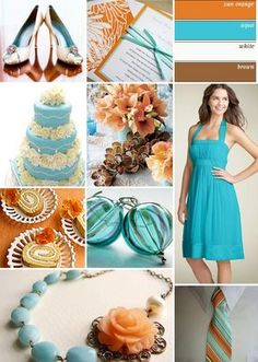 More turquoise and orange