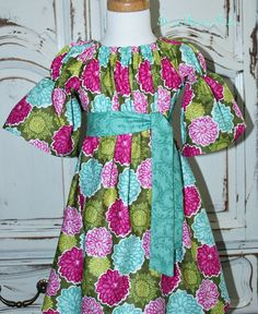 Children's Fall Peasant Dress