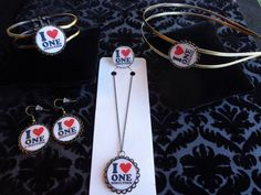 One Direction-1D Headband, Necklace, Ring, Bracelet and Earrings Gift Set. $20.00, via Etsy.