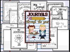 Journals through the year! Perfect for Daily 5!