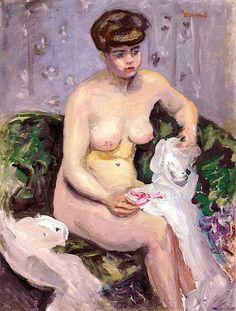 Model with a White Robe / Pierre Bonnard - circa 1905