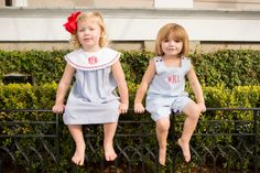 Adorable children's clothing by Crescent Moon Children.  Cute outfits for the 4th of July!