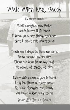 Grits & Giggles: Walk With Me, Daddy {Tutorial}