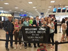 Use returnwithbanner.com to welcome your missionary home! Fun and affordable!
