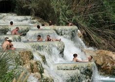 Go see (and swim in!) the Saturnia Hot Springs!