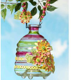 A #DIY hanging jar that will look fabulous in your #garden