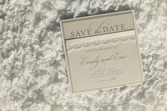 love this lace invite for Christening