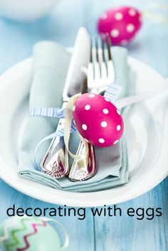 Decorating With Eggs.  Bring some spring into your life!  via http://lifeovereasy.com/ #easter