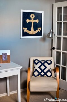 Anchor Art Made from Twine