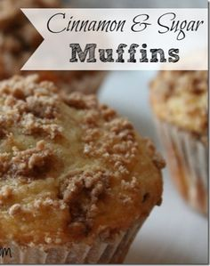 Cinnamon Sugar Muffins Recipe: Perfect breakfast option for your family!  #breakfast #muffins #thetaylorhouse